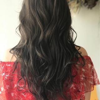 ハイライト 外国人風 グラデーションカラー フェミニン ヘアスタイルや髪型の写真・画像