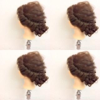 セミロング 結婚式 ゆるふわ 二次会 ヘアスタイルや髪型の写真・画像