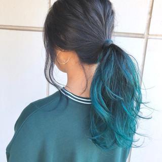 アンニュイほつれヘア グラデーションカラー ゆるふわ ヘアアレンジ ヘアスタイルや髪型の写真・画像