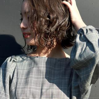 透明感 デート ナチュラル ボブ ヘアスタイルや髪型の写真・画像
