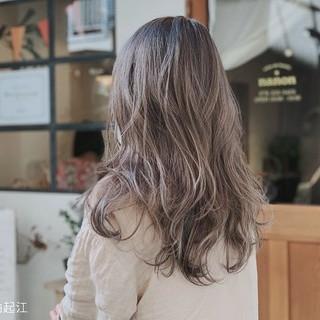 切りっぱなしボブ デート エレガント ロング ヘアスタイルや髪型の写真・画像