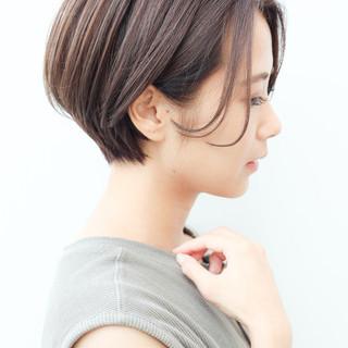 コンサバ ハンサムショート 大人かわいい 横顔美人 ヘアスタイルや髪型の写真・画像