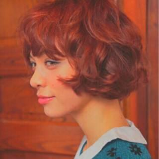 ガーリー ストリート 愛され ボブ ヘアスタイルや髪型の写真・画像