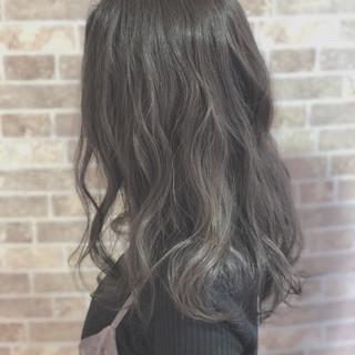 外国人風カラー 透明感 ハイライト アッシュ ヘアスタイルや髪型の写真・画像