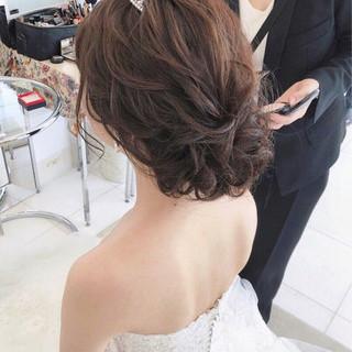 大人女子 セミロング ゆるふわ 結婚式 ヘアスタイルや髪型の写真・画像