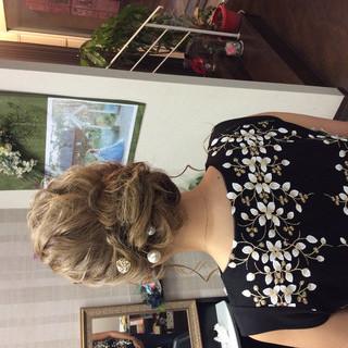 デート 結婚式 ナチュラル ヘアアレンジ ヘアスタイルや髪型の写真・画像