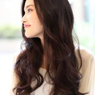 大人かわいい ロング コンサバ 暗髪 ヘアスタイルや髪型の写真・画像
