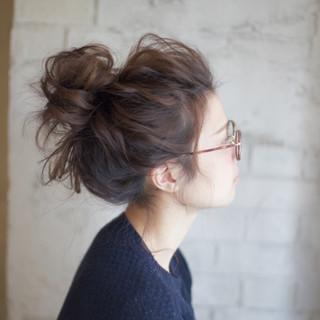 ゆるふわ お団子 簡単ヘアアレンジ ヘアアレンジ ヘアスタイルや髪型の写真・画像