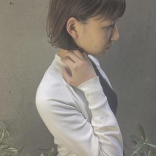 ナチュラル グレージュ ボブ 色気 ヘアスタイルや髪型の写真・画像