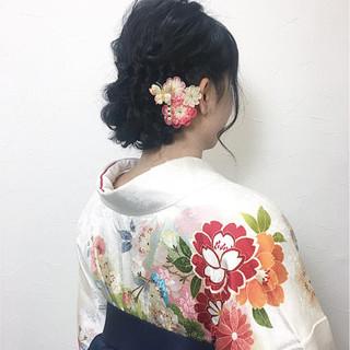 袴 謝恩会 ガーリー 学校 ヘアスタイルや髪型の写真・画像