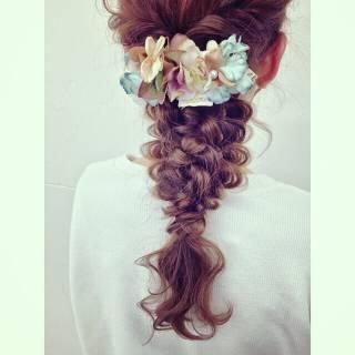ヘアアレンジ ルーズ フェミニン ゆるふわ ヘアスタイルや髪型の写真・画像 ヘアスタイルや髪型の写真・画像