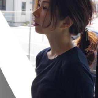 ナチュラル 簡単ヘアアレンジ セミロング 女子力 ヘアスタイルや髪型の写真・画像