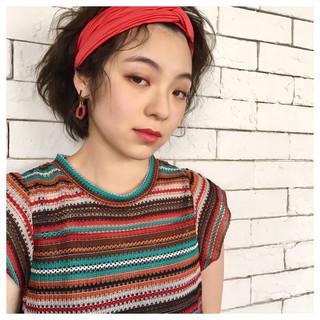 夏 大人かわいい 簡単ヘアアレンジ ナチュラル ヘアスタイルや髪型の写真・画像