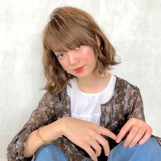 女子会 斜め前髪 ガーリー 色気 ヘアスタイルや髪型の写真・画像