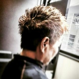 刈り上げ ショート パーマ ボーイッシュ ヘアスタイルや髪型の写真・画像 ヘアスタイルや髪型の写真・画像