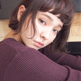 暗髪 大人かわいい マッシュ ショート ヘアスタイルや髪型の写真・画像