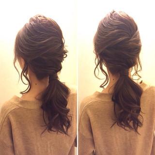 愛され モテ髪 ハーフアップ ポニーテール ヘアスタイルや髪型の写真・画像