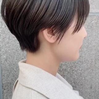 ショート 暗髪 大人ショート 大人かわいい ヘアスタイルや髪型の写真・画像