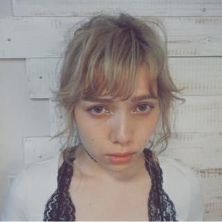 ミディアム ショート ガーリー ピュア ヘアスタイルや髪型の写真・画像