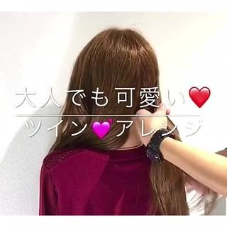 フェミニン デート 簡単ヘアアレンジ アウトドア ヘアスタイルや髪型の写真・画像