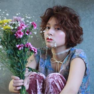 アッシュ フェミニン 小顔 ボブ ヘアスタイルや髪型の写真・画像
