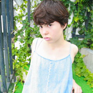 くせ毛風 前髪あり 黒髪 ストリート ヘアスタイルや髪型の写真・画像