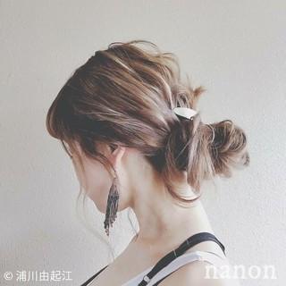 ロング ゆるふわ 大人かわいい 簡単ヘアアレンジ ヘアスタイルや髪型の写真・画像