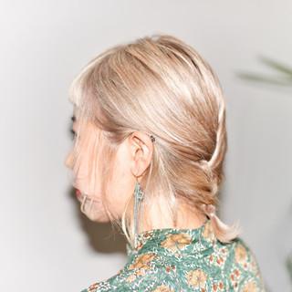 ヘアアレンジ フェミニン アッシュ ハーフアップ ヘアスタイルや髪型の写真・画像