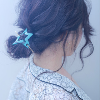 アンニュイ ガーリー 二次会 ウェーブ ヘアスタイルや髪型の写真・画像
