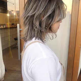 ヘアアレンジ ボブ バレイヤージュ マッシュウルフ ヘアスタイルや髪型の写真・画像