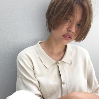 リラックス ナチュラル 色気 涼しげ ヘアスタイルや髪型の写真・画像