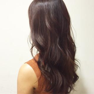 セミロング ゆるふわ ブラウン フェミニン ヘアスタイルや髪型の写真・画像