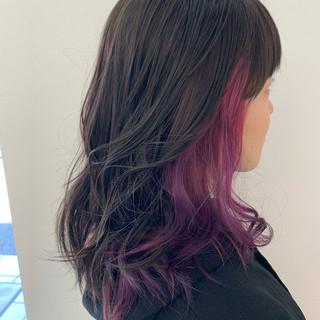 透明感 ミディアム 透明感カラー ピンクパープル ヘアスタイルや髪型の写真・画像