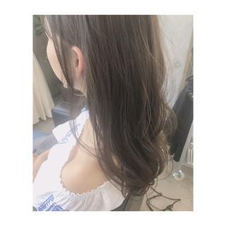 ロング デート 外国人風 ハイライト ヘアスタイルや髪型の写真・画像