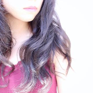 ダークアッシュ ロング アッシュ 暗髪 ヘアスタイルや髪型の写真・画像