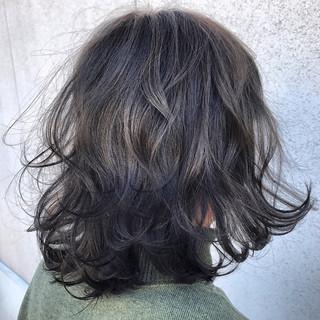 アッシュ ボブ フェミニン 外国人風カラー ヘアスタイルや髪型の写真・画像
