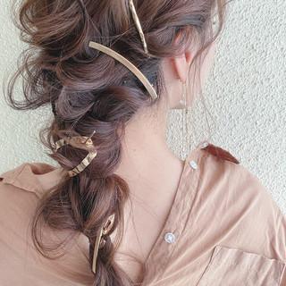 ロング 浴衣ヘア ナチュラル 簡単ヘアアレンジ ヘアスタイルや髪型の写真・画像