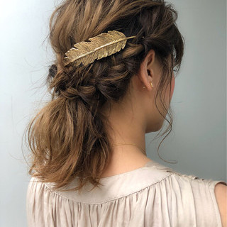 ボブ 簡単ヘアアレンジ デート 結婚式 ヘアスタイルや髪型の写真・画像 ヘアスタイルや髪型の写真・画像