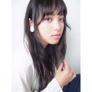 黒髪 リラックス ナチュラル モテ髪 ヘアスタイルや髪型の写真・画像