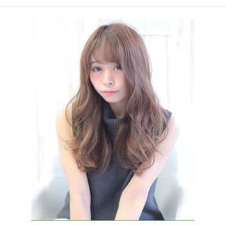 セミロング 大人女子 外国人風 イルミナカラー ヘアスタイルや髪型の写真・画像