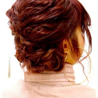 波ウェーブ ヘアアレンジ 編み込み ボブ ヘアスタイルや髪型の写真・画像