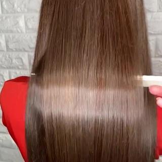 髪質改善 ロング ストレート サイエンスアクア ヘアスタイルや髪型の写真・画像