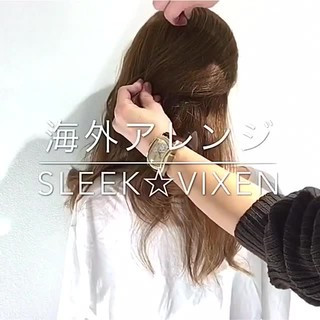 ヘアアレンジ アウトドア デート セミロング ヘアスタイルや髪型の写真・画像
