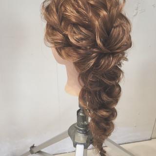 エレガント 結婚式 大人かわいい ゆるふわ ヘアスタイルや髪型の写真・画像
