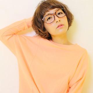 ガーリー パーマ ショート ゆるふわ ヘアスタイルや髪型の写真・画像