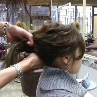 編み込み ショート ミディアム 簡単ヘアアレンジ ヘアスタイルや髪型の写真・画像