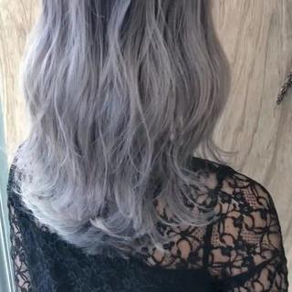 ストリート ミディアム グラデーションカラー ブリーチ ヘアスタイルや髪型の写真・画像