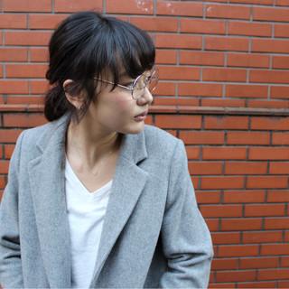 外国人風 ヘアアレンジ ショート ミディアム ヘアスタイルや髪型の写真・画像