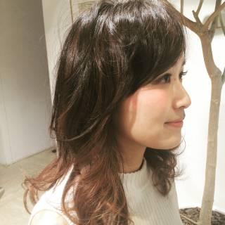 愛され フェミニン ロング ゆるふわ ヘアスタイルや髪型の写真・画像