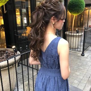 ポニーテール ロング エレガント 大人可愛い ヘアスタイルや髪型の写真・画像